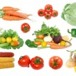 Collection of fresh vegetables isolated on white — Stock Photo