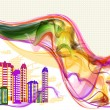 Abstract background in urban style - 图库矢量图片