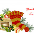 Christmas card with space for your text — Image vectorielle