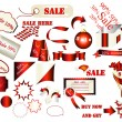 Collection of vector labels for sale design — Stock Vector