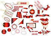 Kolekcja wektor etykiet dla sprzedaży projektu — Wektor stockowy