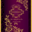 Vector de stock : Luxury invitation background