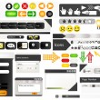 Set of web design elements - Stock vektor