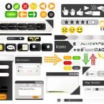 insieme di elementi di design web — Vettoriale Stock  #13333702