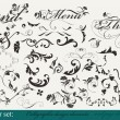 Collection of decorative design elements — Imagens vectoriais em stock