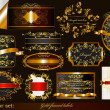 Collection of luxury gold-framed labels — Imagen vectorial