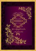 Luxury invitation background — Stock Vector