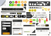 Set of web design elements — Stock Vector