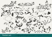 Colección de elementos de diseño decorativo — Vector de stock