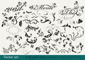 Collection of decorative design elements — Vector de stock