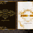 Luxury  invitation card in dark and light color - Image vectorielle