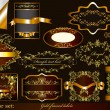 Luxury gold-framed labels - Stockvektor