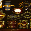Luxury gold-framed labels - Image vectorielle