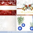 Set of  vector Christmas backgrounds - Image vectorielle