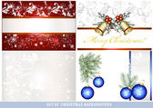 Set of vector Christmas backgrounds — Stock Vector