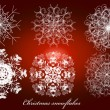Stock Vector: Christmas snowflakes set