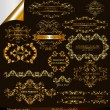 Collection of vector gold-framed labels premium and best quality — Imagen vectorial