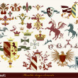 图库矢量图片: Heraldry elements for your heraldic design projects