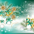 Christmas greeting card — Stockvector  #13844137