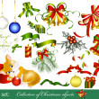 Stock Vector: Collection of christmas design elements