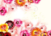 Cute flower background in gentle and bright colors — Vector de stock