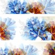 Abstract colorful flower backgrounds set — Imagens vectoriais em stock