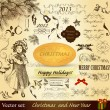 Christmas vintage design elements — Stock Vector #14878677