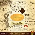 Christmas vintage design elements — Stock Vector #14878677