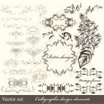 Calligraphic design elements — Stock Vector #15647075