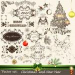 Christmas calligraphic set — Stock Vector #15649093