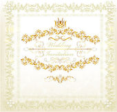 Invitation wedding card in vintage luxury style — Stock Vector