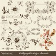 Calligraphic decorative elements in vintage style — Stock Vector