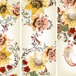Set of floral backgrounds — Grafika wektorowa