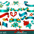 Collection of vector ribbons and bows — Image vectorielle