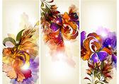Floral brochure set — Stock Vector