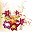 Abstract background with flowers - Stockvektor
