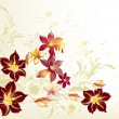 Clear floral vector background — Stock vektor