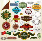 Collection of vector vintage labels — Stock Vector