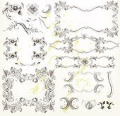 Decorative vintage design elements — Stock Vector