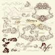 Calligraphic design elements and page decorations - Imagen vectorial