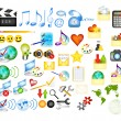 Collection of web vector icons - Stockvectorbeeld
