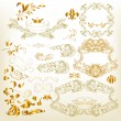 Golden luxury calligraphic design elements - Vettoriali Stock 