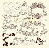 Elementos de diseño caligráfico y decoraciones de página — Vector de stock