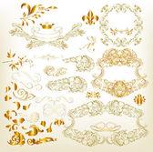 Golden luxury calligraphic design elements — Stock Vector