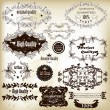 Collection of vector calligraphic labels best, original and prem — Stock vektor #18122113