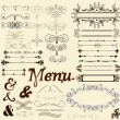 Calligraphic design elements and page decorations in retro style — 图库矢量图片 #18456637
