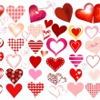 Hearts icon set — Stock Vector #18458509