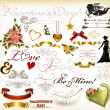 Collection of valentine - Stock Vector