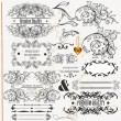 Calligraphic design elements and page decorations — Vector de stock #19211075