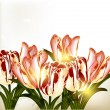 Cute background with tulips — Stock vektor